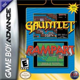 Box cover for Gauntlet / Rampart on the Nintendo Game Boy Advance.