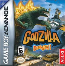 Box cover for Godzilla: Domination on the Nintendo Game Boy Advance.