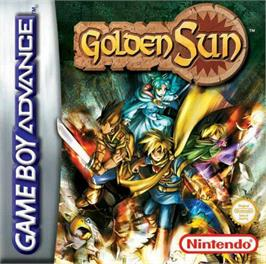 Box cover for Golden Sun on the Nintendo Game Boy Advance.