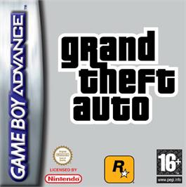 Box cover for Grand Theft Auto Advance on the Nintendo Game Boy Advance.