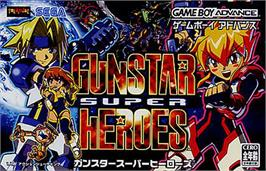 Box cover for Gunstar Super Heroes on the Nintendo Game Boy Advance.