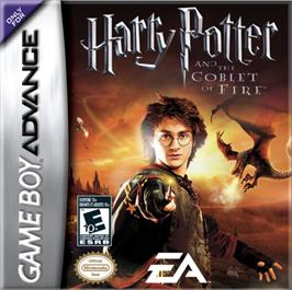 Box cover for Harry Potter and the Goblet of Fire on the Nintendo Game Boy Advance.