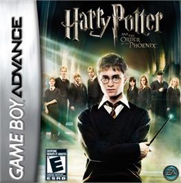 Box cover for Harry Potter and the Order of the Phoenix on the Nintendo Game Boy Advance.