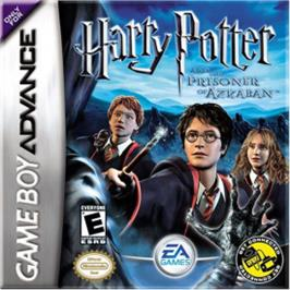Box cover for Harry Potter and the Prisoner of Azkaban on the Nintendo Game Boy Advance.