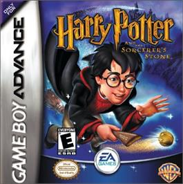 Box cover for Harry Potter and the Sorcerer's Stone on the Nintendo Game Boy Advance.
