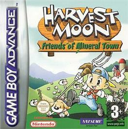 Box cover for Harvest Moon: Friends of Mineral Town on the Nintendo Game Boy Advance.
