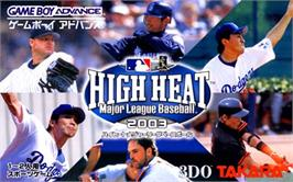 Box cover for High Heat Major League Baseball 2003 on the Nintendo Game Boy Advance.