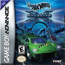 Box cover for Hot Wheels: Velocity X on the Nintendo Game Boy Advance.
