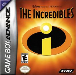 Box cover for Incredibles on the Nintendo Game Boy Advance.