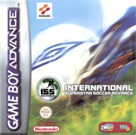 Box cover for International Superstar Soccer Advance on the Nintendo Game Boy Advance.
