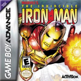 Box cover for Invincible Iron Man on the Nintendo Game Boy Advance.