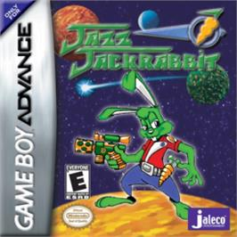 Box cover for Jazz Jackrabbit on the Nintendo Game Boy Advance.