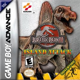Box cover for Jurassic Park III: Island Attack on the Nintendo Game Boy Advance.