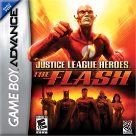 Box cover for Justice League Heroes: The Flash on the Nintendo Game Boy Advance.