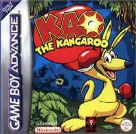 Box cover for Kao the Kangaroo on the Nintendo Game Boy Advance.