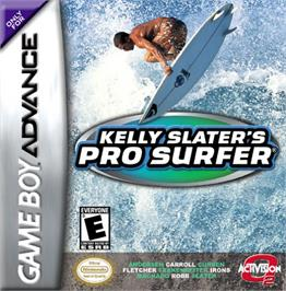 Box cover for Kelly Slater's Pro Surfer on the Nintendo Game Boy Advance.
