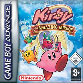 Box cover for Kirby and the Amazing Mirror on the Nintendo Game Boy Advance.