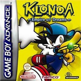Box cover for Klonoa: Empire of Dreams on the Nintendo Game Boy Advance.