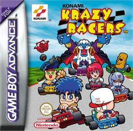 Box cover for Konami Krazy Racers on the Nintendo Game Boy Advance.