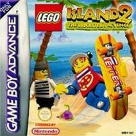 Box cover for LEGO Island 2: The Brickster's Revenge on the Nintendo Game Boy Advance.