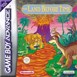 Box cover for Land Before Time on the Nintendo Game Boy Advance.