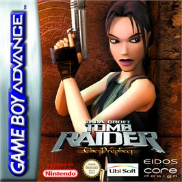 Box cover for Lara Croft Tomb Raider: The Prophecy on the Nintendo Game Boy Advance.