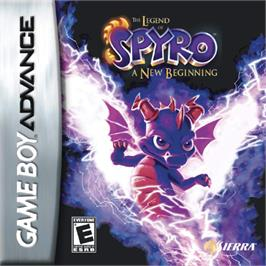 Box cover for Legend of Spyro: A New Beginning on the Nintendo Game Boy Advance.