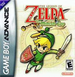 Box cover for Legend of Zelda: The Minish Cap on the Nintendo Game Boy Advance.