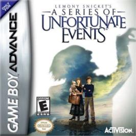 Box cover for Lemony Snicket's A Series of Unfortunate Events on the Nintendo Game Boy Advance.