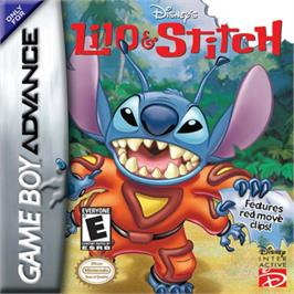 Box cover for Lilo & Stitch on the Nintendo Game Boy Advance.