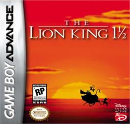 Box cover for Lion King 1 ½ on the Nintendo Game Boy Advance.