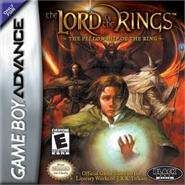 Box cover for Lord of the Rings: The Fellowship of the Ring on the Nintendo Game Boy Advance.