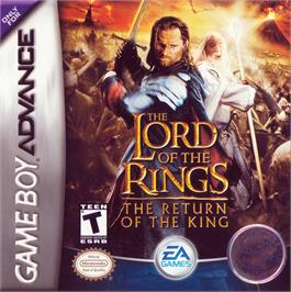 Box cover for Lord of the Rings: The Return of the King on the Nintendo Game Boy Advance.