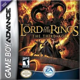 Box cover for Lord of the Rings: The Third Age on the Nintendo Game Boy Advance.