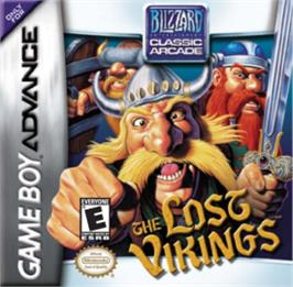 Box cover for Lost Vikings on the Nintendo Game Boy Advance.