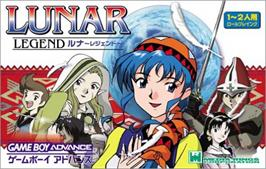Box cover for Lunar Legend on the Nintendo Game Boy Advance.