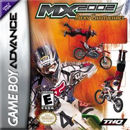Box cover for MX 2002 featuring Ricky Carmichael on the Nintendo Game Boy Advance.