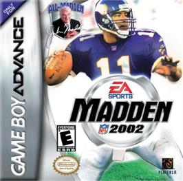 Box cover for Madden NFL 2002 on the Nintendo Game Boy Advance.