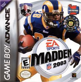 Box cover for Madden NFL 2003 on the Nintendo Game Boy Advance.