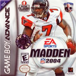 Box cover for Madden NFL 2004 on the Nintendo Game Boy Advance.