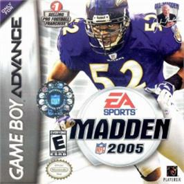 Box cover for Madden NFL 2005 on the Nintendo Game Boy Advance.
