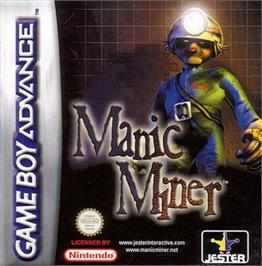 Box cover for Manic Miner on the Nintendo Game Boy Advance.