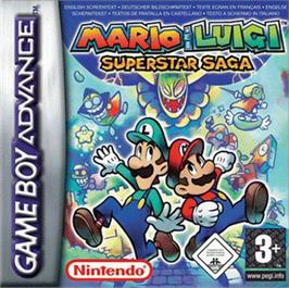 Box cover for Mario & Luigi: Superstar Saga on the Nintendo Game Boy Advance.