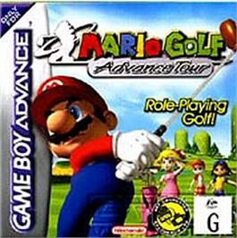 Box cover for Mario Golf: Advance Tour on the Nintendo Game Boy Advance.