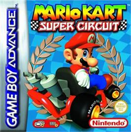 Box cover for Mario Kart Super Circuit on the Nintendo Game Boy Advance.