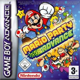 Box cover for Mario Party Advance on the Nintendo Game Boy Advance.