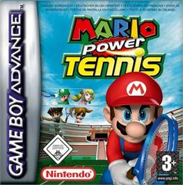 Box cover for Mario Tennis: Power Tour on the Nintendo Game Boy Advance.