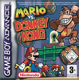 Box cover for Mario vs. Donkey Kong on the Nintendo Game Boy Advance.