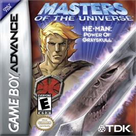 Box cover for Masters of the Universe: He-Man: Power of Greyskull on the Nintendo Game Boy Advance.
