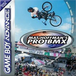 Box cover for Mat Hoffman's Pro BMX on the Nintendo Game Boy Advance.